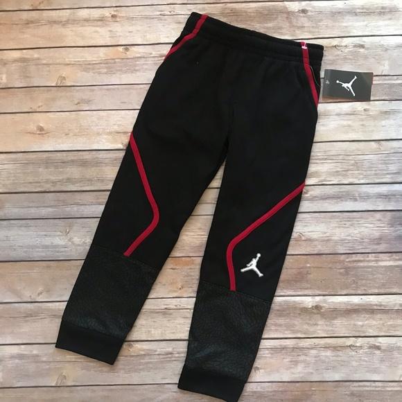 dcf9ae87658fb4 Nike Air Jordan Therma Fit Joggers Pants Black Red